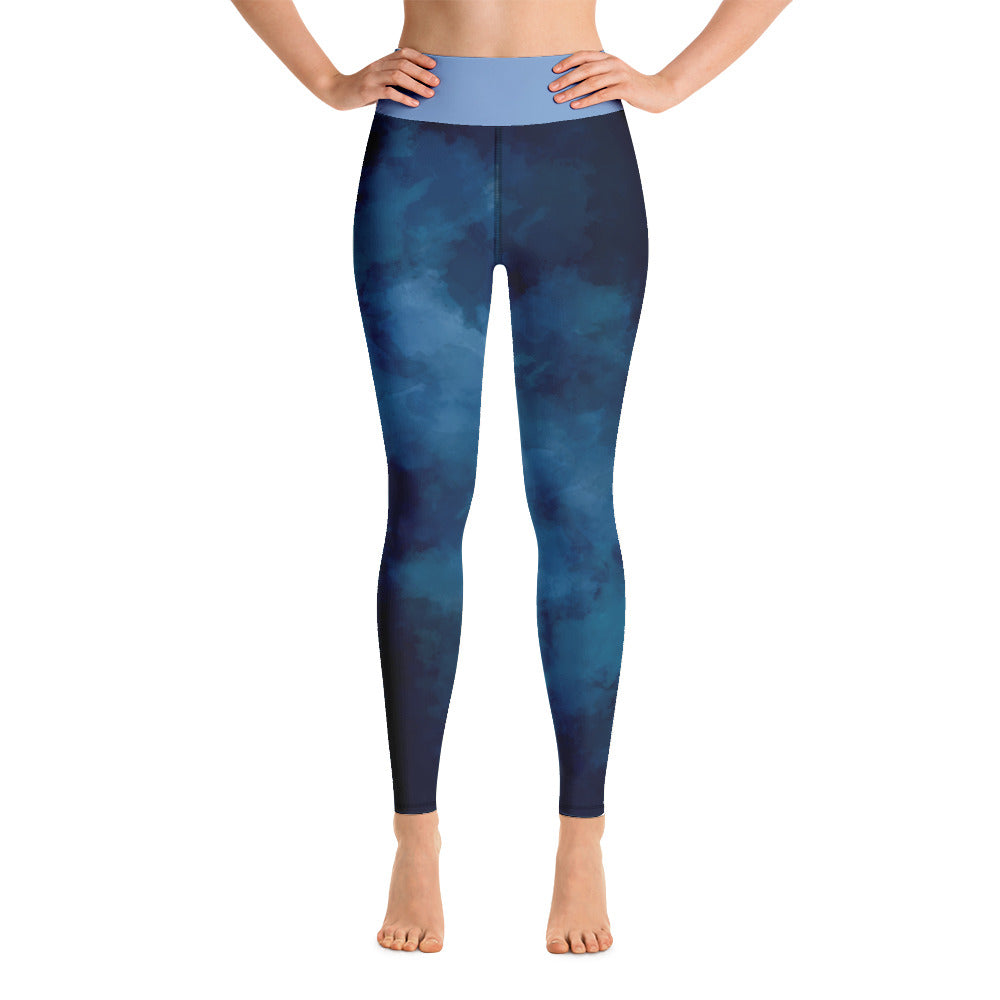"Yoga Leggings ""Dark Blue Design"""