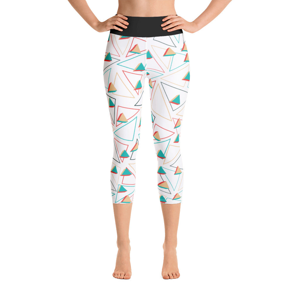 Yoga Capri Leggings Triangle Design