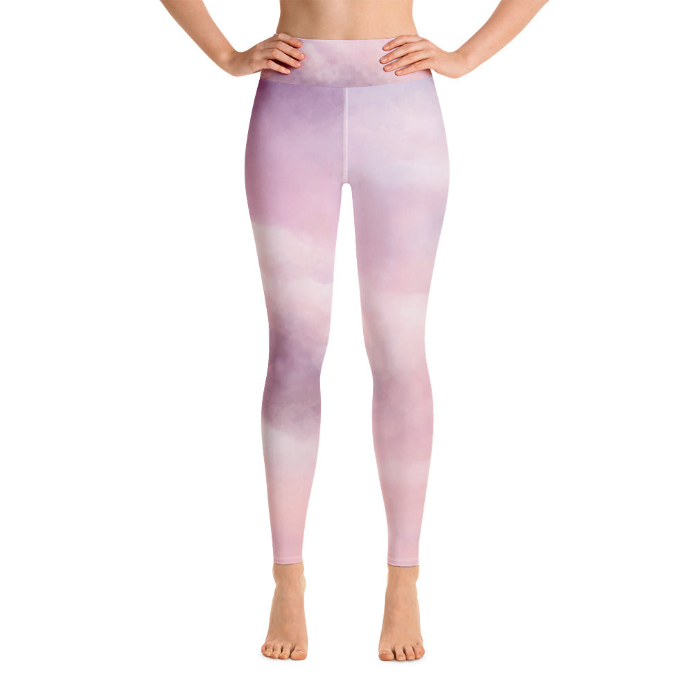Yoga Leggings Clouds Design