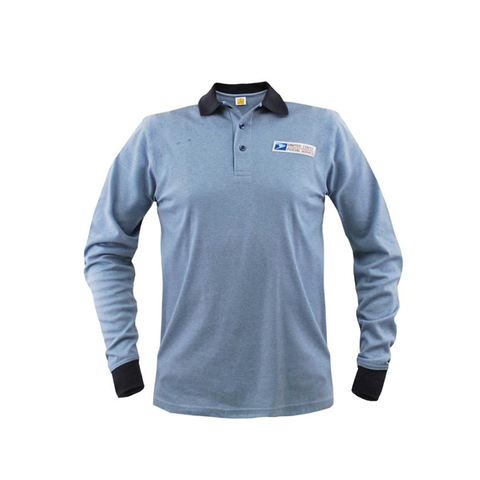 postal uniforms clerk long sleeve polo shirt men's