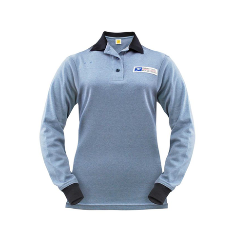 postal uniforms clerk long sleeve polo shirt women's