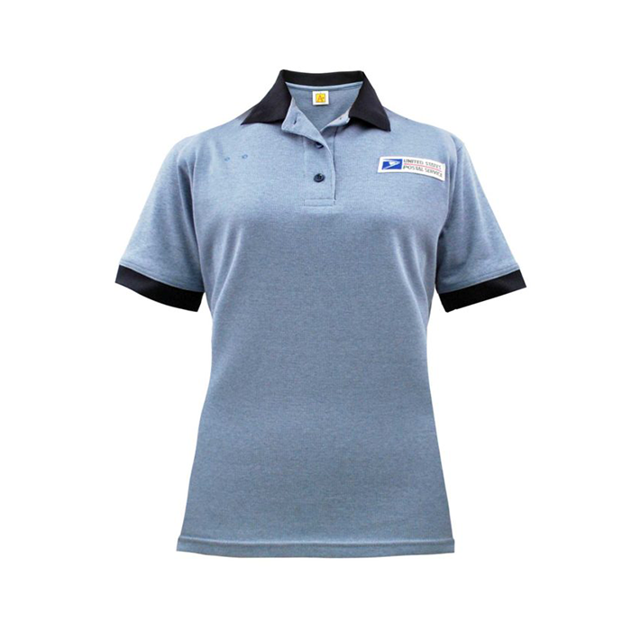 postal uniforms clerk short sleeve polo shirt women's