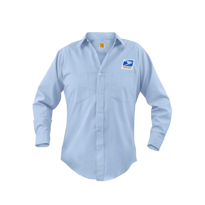 postal uniforms letter carrier long sleeve shirt men's