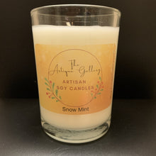 Snow Mint Holiday Soy Candle