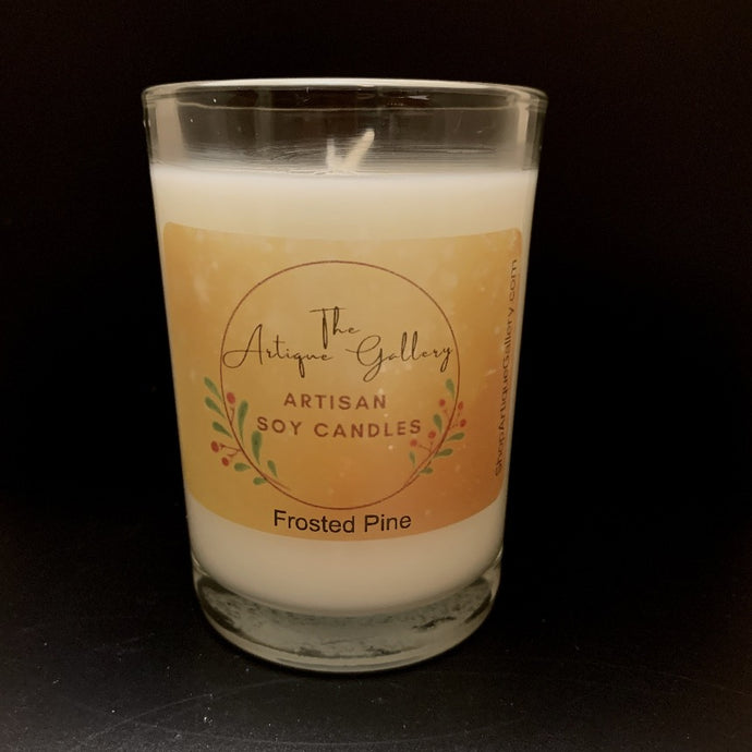 Frosted Pine Holiday Soy Candle