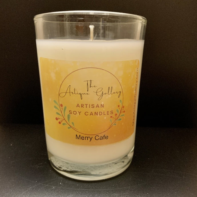 Merry Cafe Holiday Soy Candle