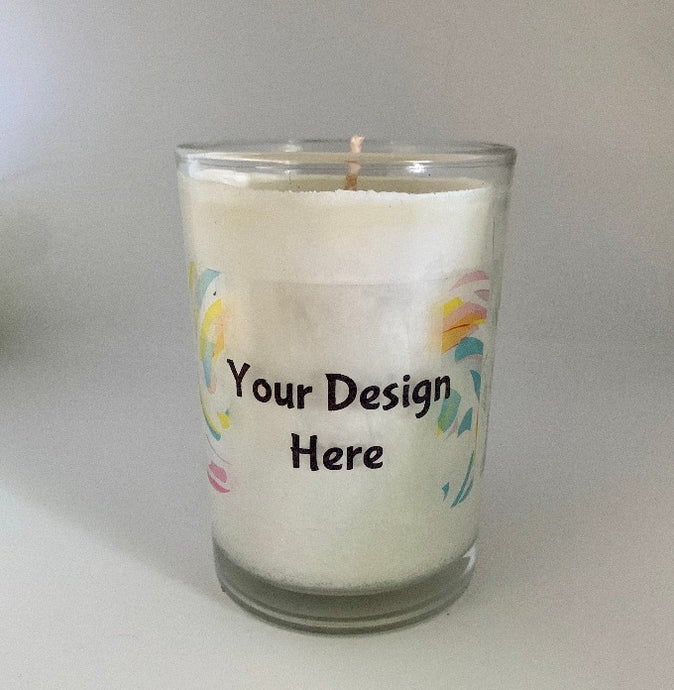 Custom Label Design on 8 oz. Soy Candle