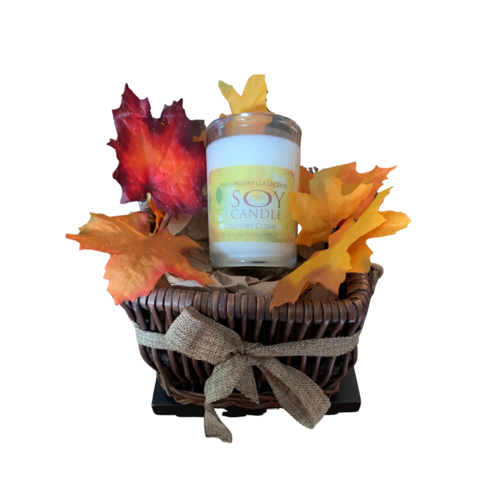 Country Cedar Soy Candle Fall Gift Basket