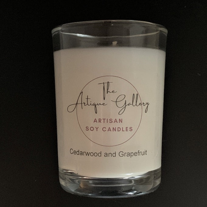 Cedarwood and Grapefruit Artisan Soy Candles