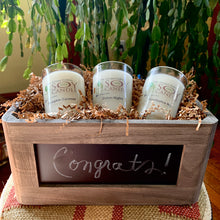 Chalkboard Candle Trio Gift Box - Personalize It for any occasion!