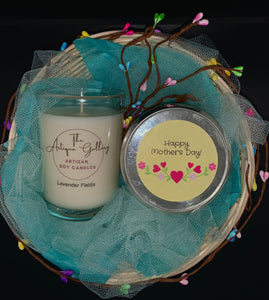 Mother's Day Soy Candle Duo Gift Basket