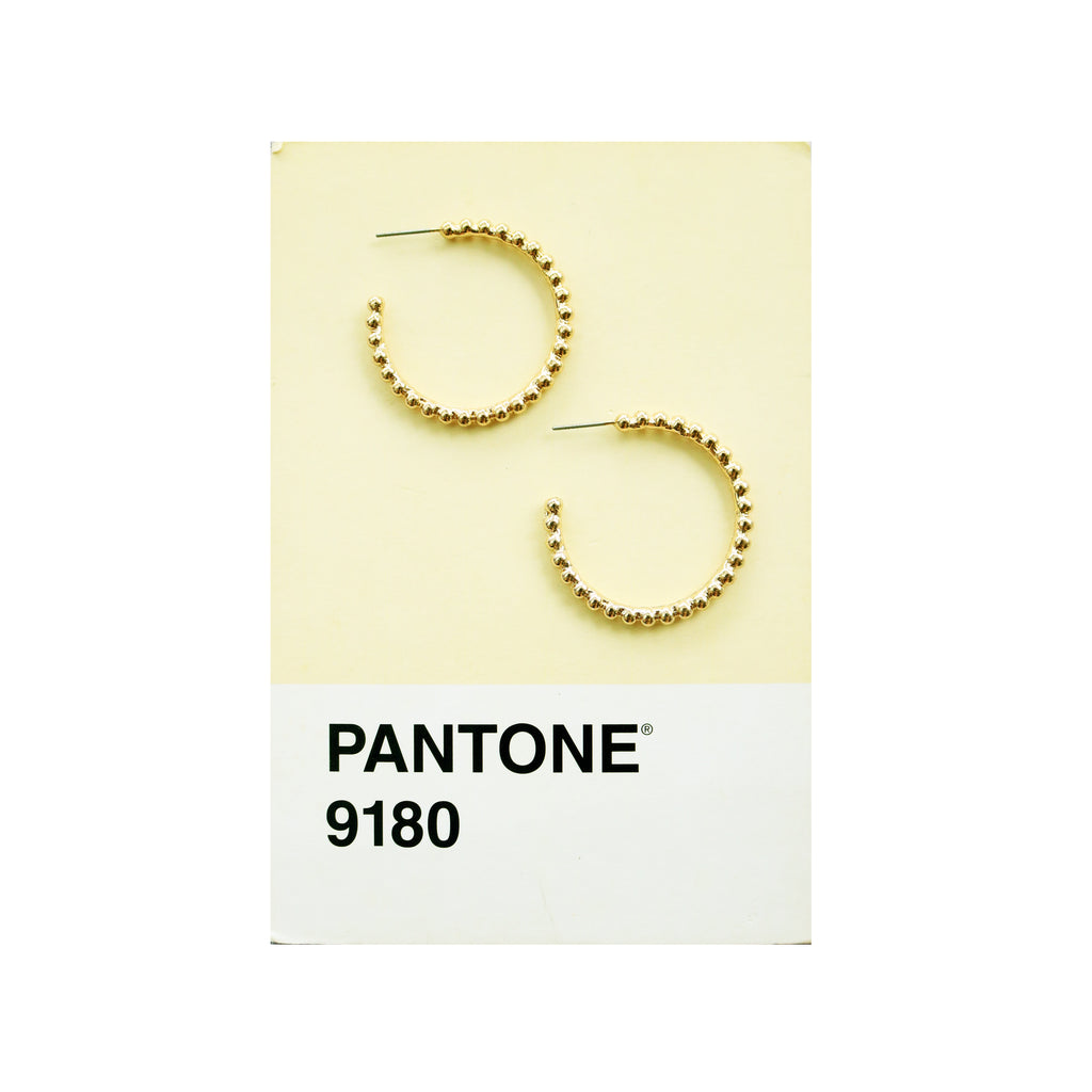 Bubble Gold Hoops