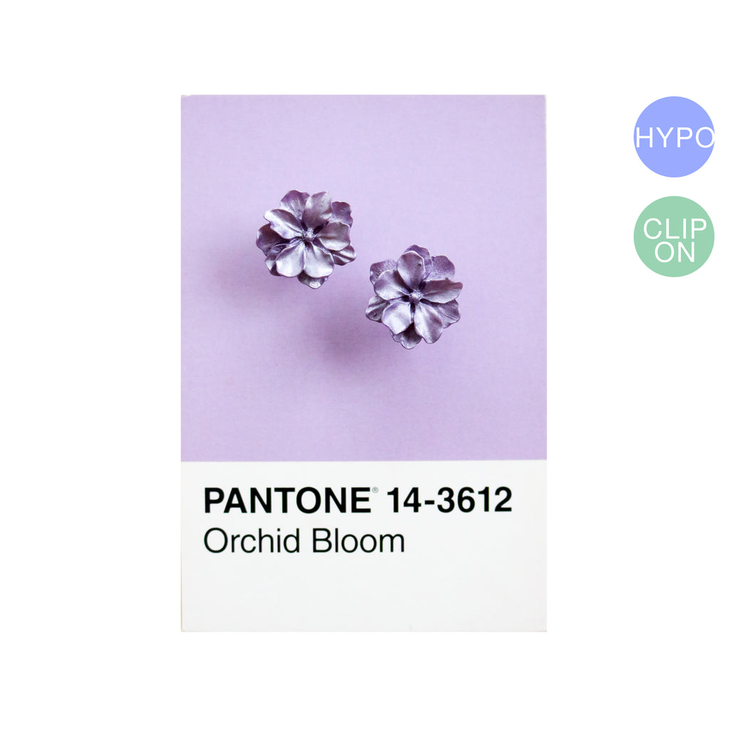 Carnation Studs in Lavender