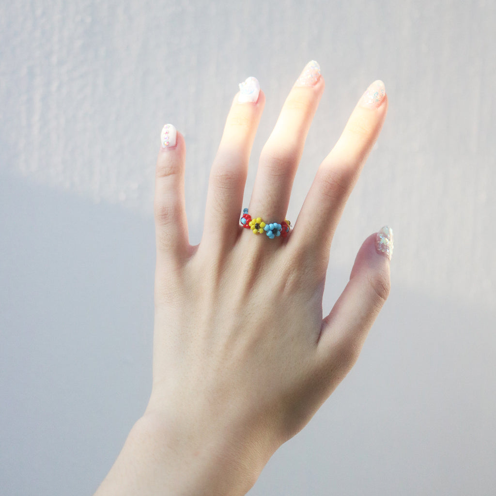 Garden Beaded Ring (Multi)