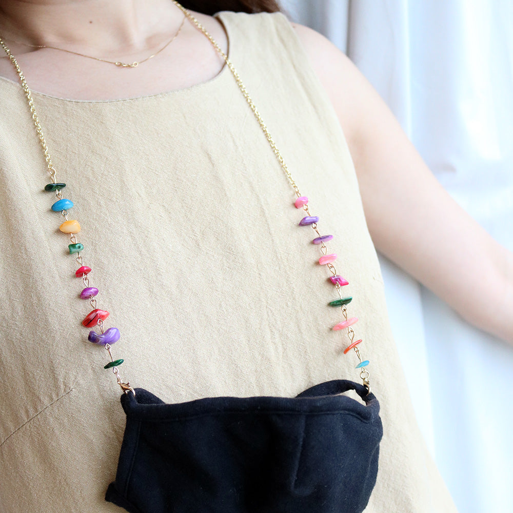 Petite Stones Multiway Chain in Rainbow