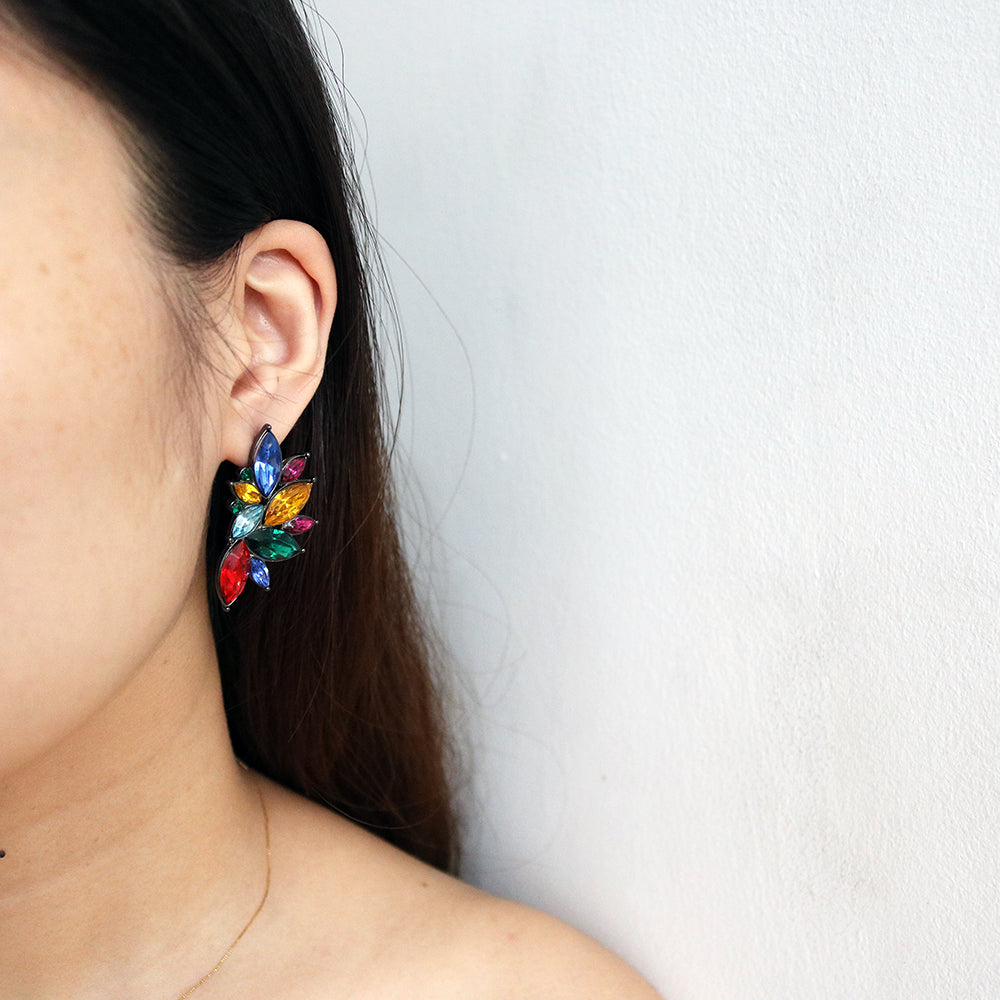 Wing Gem Studs in Rainbow