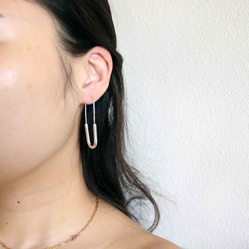 Umbra Plated Hoops in Silver