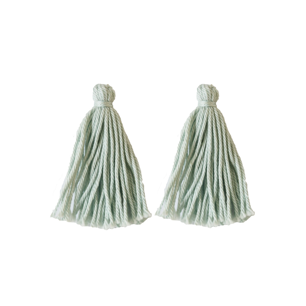 ADD: Pale Teal Tassels