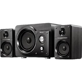 MECER 2.1 CH Black Amplified Speaker with MP3 Player