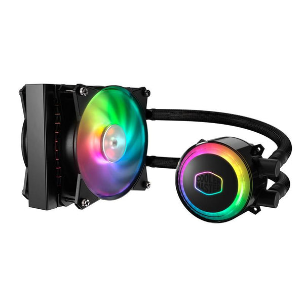 Cooler Master MasterLiquid ML120R ARGB Liquid Cooler; 120mm Radiator; 2 x 120mm MasterFan ARGB Fan