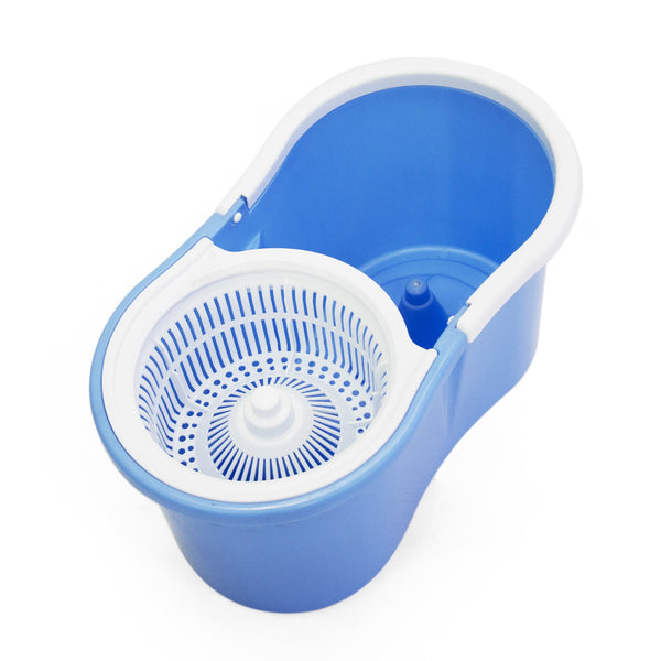 Fine Living-Spin Mop - Figure 8 - Blue,with plastic - Zalemart