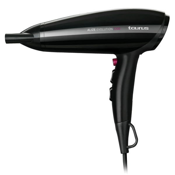 "Taurus Hair Dryer DC Motor Plastic Black 3 Speed 2200W ""Alize Evolution"""