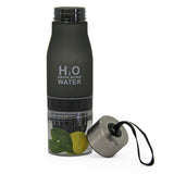H2O Infuser Bottle - Black - Zalemart