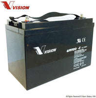 Vision 100AH 12V Deep Cycle AGM Battery (eXtra Heavy Duty 6FM100Z-X )