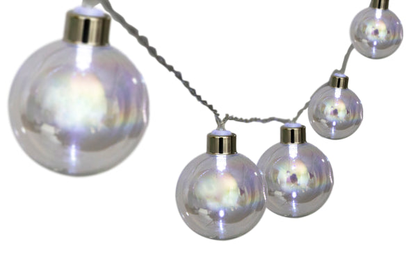 LED Fairy lights - Silver Ball 10pc - Zalemart