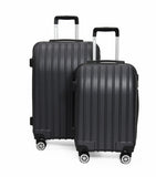 SideKick - Emerald 2pc Luggage Set - Black - Zalemart
