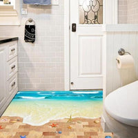 3D Wall or Floor Stickers - Beach - Zalemart