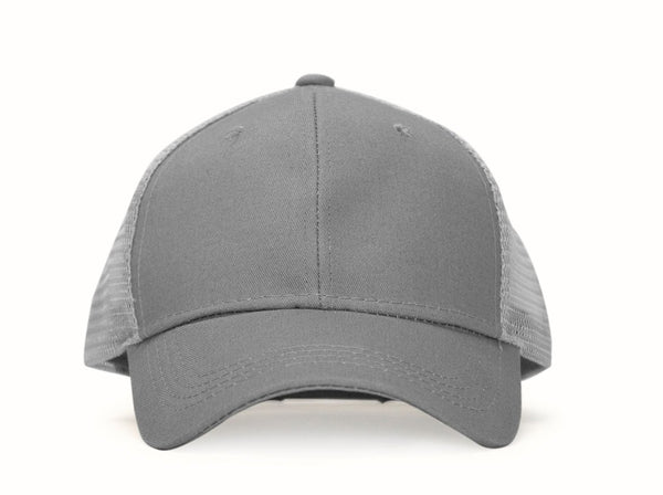 Baseball Ponytail Cap - Grey - Zalemart