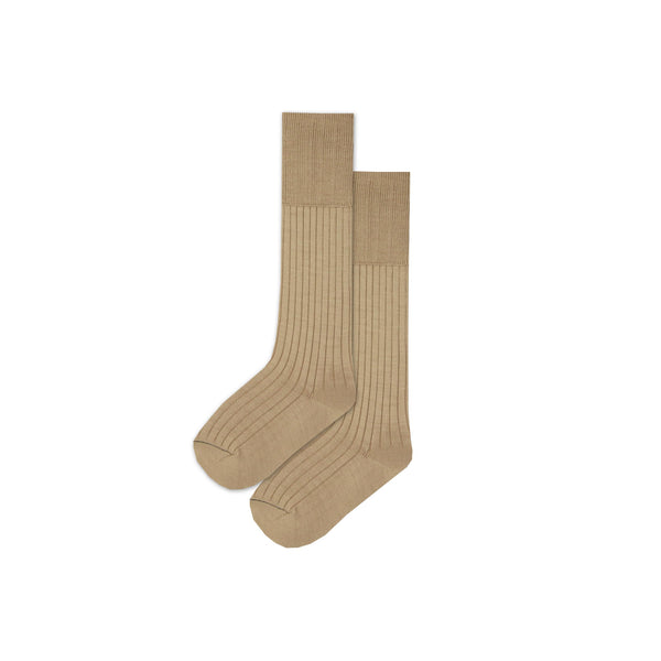 Buy-Boys 3/4 Plain Long Socks - Sand-Small-Online-in South Africa-on Zalemart