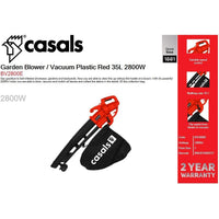 Buy-Casals Garden Blower / Vacuum Plastic Red 35L 2800W-Online-in South Africa-on Zalemart