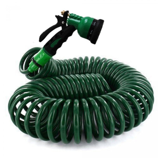 Coiled Retractable Hose - 15m - Zalemart