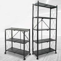 Buy-Fine Living Foldable storage rack-Black Metal 5 Layer-Online-in South Africa-on Zalemart