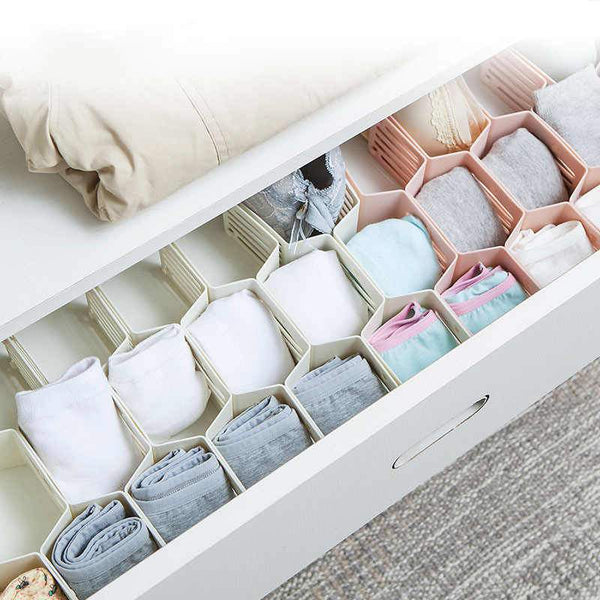 Buy-Fine Living Honeycomb Draw Organiser - White-Online-in South Africa-on Zalemart