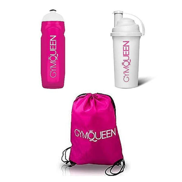Fitness (Gym/Sports) Accessory Kit (Bag, Bottle, Shaker) - Zalemart
