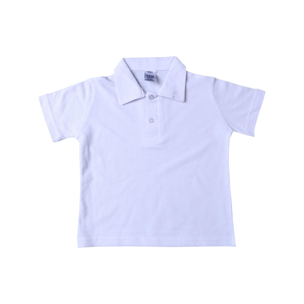 Buy-Golf Shirt Plain - White Self Collar-Age 4-5-Online-in South Africa-on Zalemart