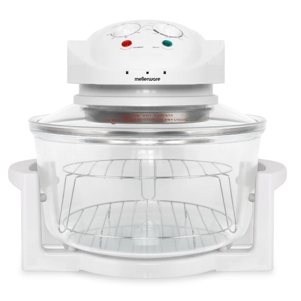 "Buy-Mellerware Convection Cooker Adjustable Temperature Glass White 12L 1400W ""Turbo Cook""-Online-in South Africa-on Zalemart"