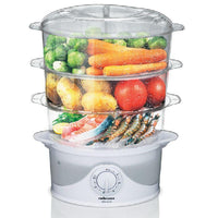 "Buy-Mellerware Food Steamer With Timer Plastic 3 Tier / 9L 800W ""Dim Sum""-Online-in South Africa-on Zalemart"