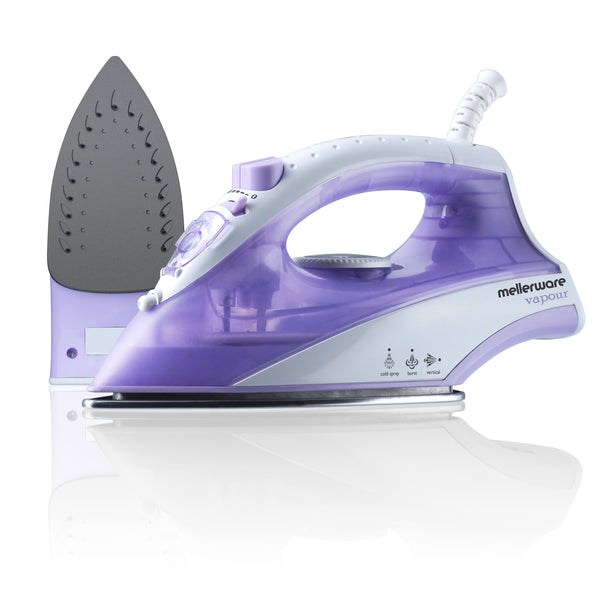 "Buy-Mellerware Iron Steam / Dry / Spray Non-Stick Purple 170ml 1600W ""Vapour""-Online-in South Africa-on Zalemart"
