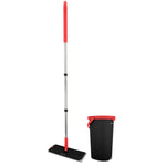 "Buy-Mellerware Mop With Bucket Including 2 Microfibre Heads Plastic Red 5L ""Extreme Clean""-Online-in South Africa-on Zalemart"