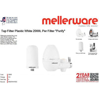 "Buy-Mellerware Tap Filter Plastic White 2000L Per Filter ""Purify""-Online-in South Africa-on Zalemart"