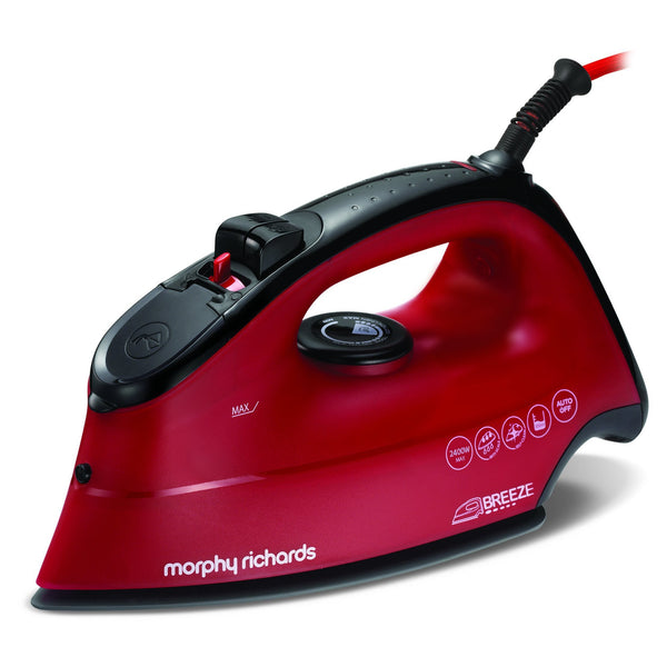 "Buy-Morphy Richards Iron Steam / Dry / Spray Ceramic Red 350ml 2400W ""Breeze""-Online-in South Africa-on Zalemart"