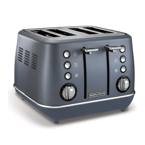 "Buy-Morphy Richards Toaster 4 Slice Stainless Steel Blue 1800W ""Evoke""-Online-in South Africa-on Zalemart"