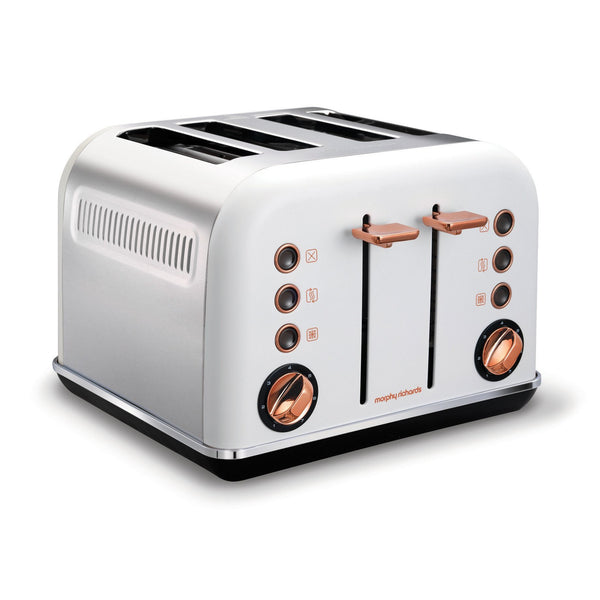 "Buy-Morphy Richards Toaster 4 Slice Stainless Steel White 1800W ""Accents Rose Gold""-Online-in South Africa-on Zalemart"