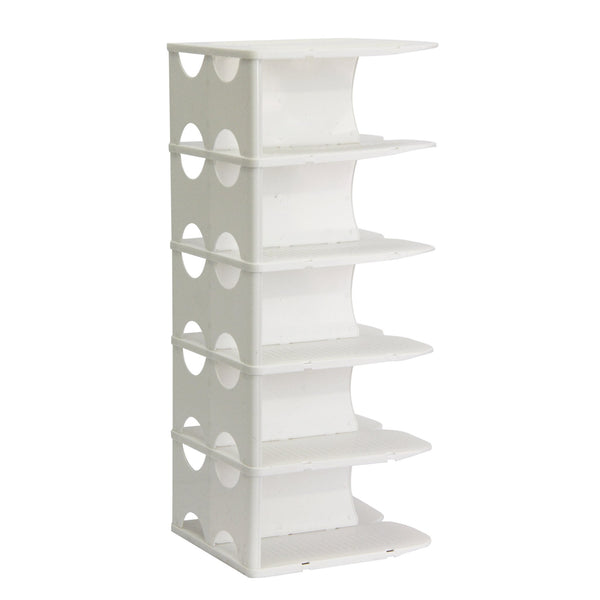 Buy-Pillar 6 Layer Shoe Rack - White-Online-in South Africa-on Zalemart