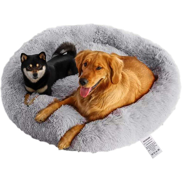Buy-Plush pet bed 80cm - Grey-Online-in South Africa-on Zalemart