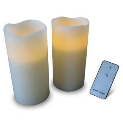 Remote Control Candle Set (pack of 2) - Zalemart